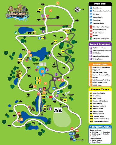 Safari Niagara Park Map 2018